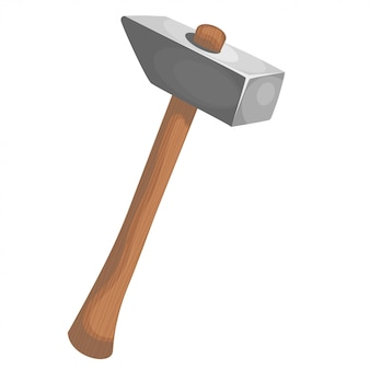 Cartoon illustration of a hammer