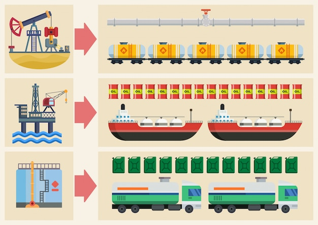Cartoon illustration infographic stages