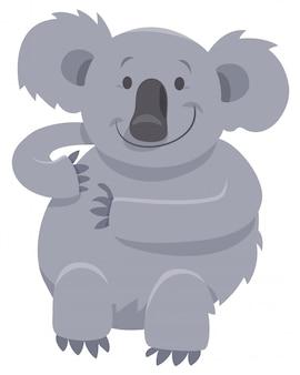 Cartoon illustration of koala bear character