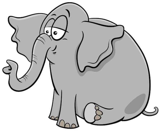赤ちゃん象の漫画の動物のキャラクターの漫画イラスト