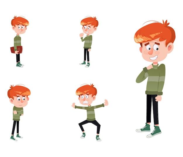 かわいい男の子セットの漫画イラスト