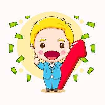 Мультфильм иллюстрации милый бизнесмен характер