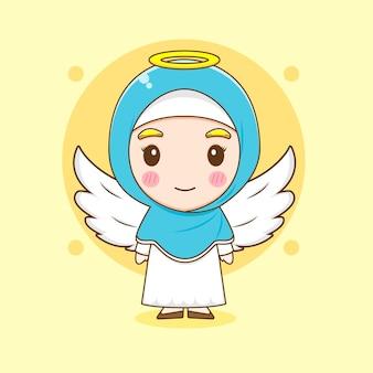 Карикатура иллюстрации милой мусульманской женщины