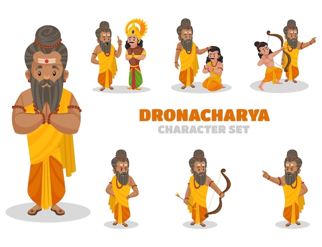 Dronacharya 문자 집합의 만화 그림