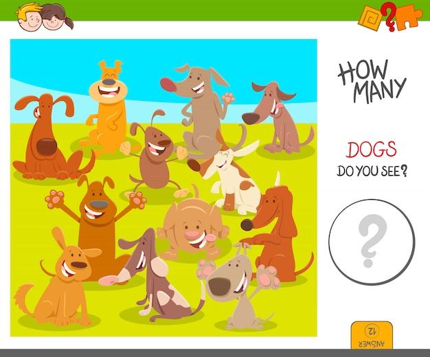 교육 계산 게임의 만화 그림