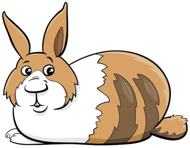 재미 있는 거짓말 난쟁이 토끼 만화 동물 캐릭터의 만화 그림