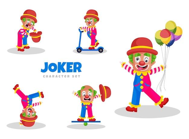 ジョーカーキャラクターセットの漫画イラスト