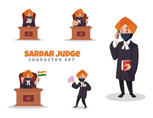 Sardar 판사 문자 집합의 만화 그림