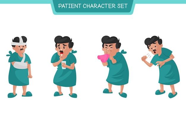 환자 문자 집합의 만화 그림