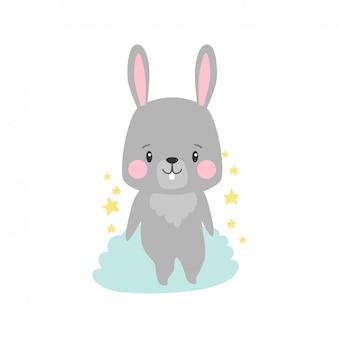 Cartoon illustration of rabbit