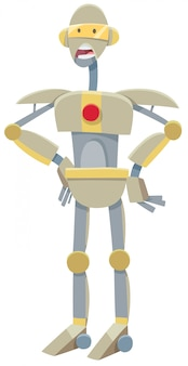 Cartoon illustration of robot character