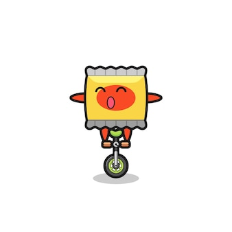 Cartoon illustration of snack holding a yellow letter , cute style design for t shirt, sticker, logo element