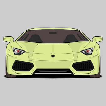 Cartoon  illustration sport car