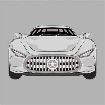 Cartoon  illustration super car modern