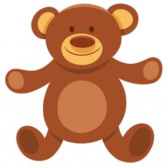Cartoon illustration of teddy bear plush toy