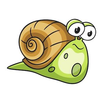 만화 그림 걷는 달팽이