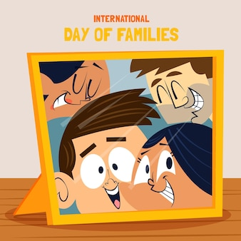 Cartoon international day of families illustration