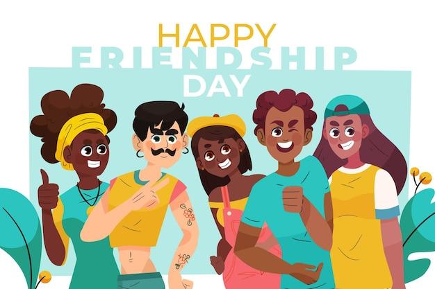 Illustrazione di giorno dell'amicizia internazionale del fumetto
