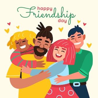 Cartoon international friendship day illustration