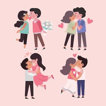 漫画国際キスの日のイラスト