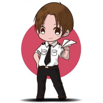 Cartoon job character