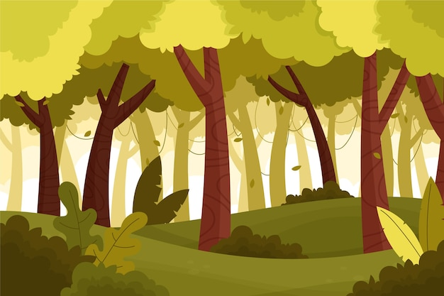 漫画のジャングルの背景