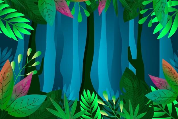 Мультяшный фон джунглей