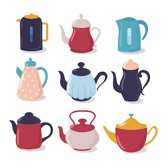 Cartoon kettle set