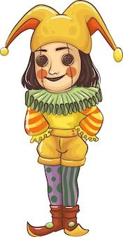 Мультяшные дети в костюмах на хэллоуин отлично подходят для украшения вечеринки в мультяшном стиле на хэллоуин