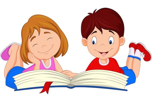 漫画の子供の読書