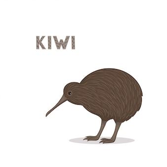 Cartoon kiwi isolated on white