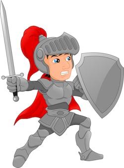 Cartoon knight boy