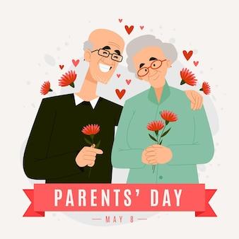 만화 한국 부모의 날 그림