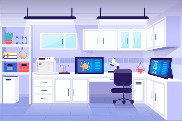 漫画の実験室のイラスト