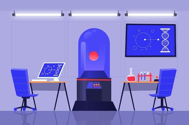 Мультфильм лабораторный зал с доской