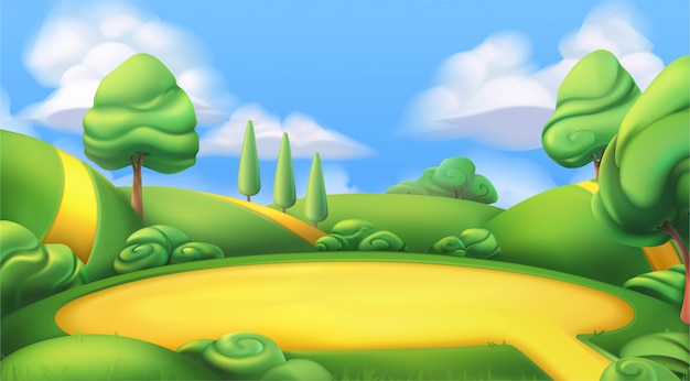 Cartoon land illustration