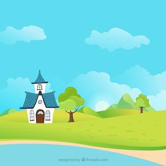 Cartoon landcape