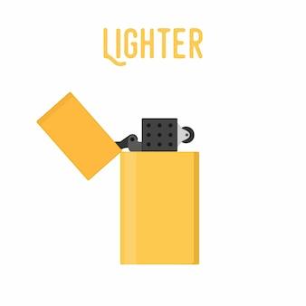 Cartoon lighter, smoking device. classic, retro lighter