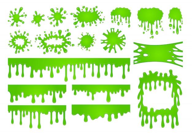 Cartoon liquid slime set