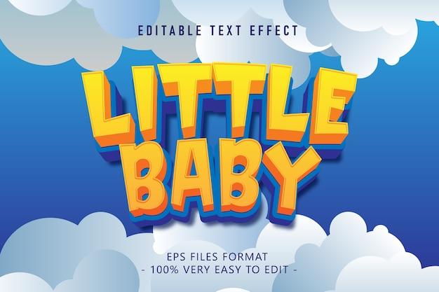 Cartoon little baby text effect, editable text