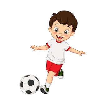 어린 소년 축구 만화