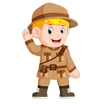 Cartoon little boy scout