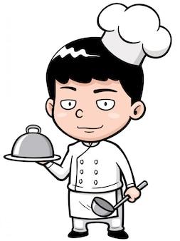 Cartoon little chef