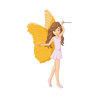 魔法の棒で漫画の小さな妖精