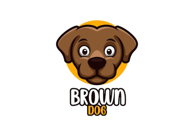 Cartoon logo for dog with creative and stylish concept