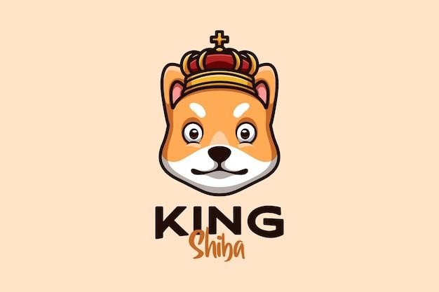 창의적이고 세련된 컨셉의 개를 위한 만화 로고