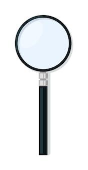 Лупа увеличительного стекла мультфильм изолированные