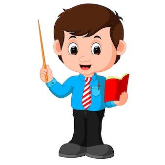Cartoon male teacher
