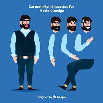 Cartoon man for motion design