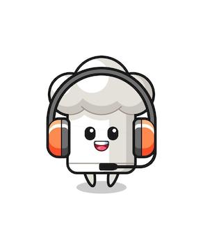Cartoon mascot of chef hat as a customer service , cute style design for t shirt, sticker, logo element